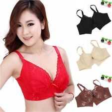 Sexy Women Lady Underwire Bra Push Up Lace Padded Underwear Full Cover 36-42 C/D