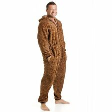Camille Mens Adult Animal Cat Leopard All In One Onesie Pyjama Jumpsuit Playsuit
