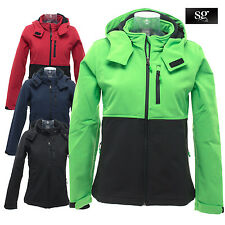 SG SG44F Ladies Contrast Softshell Hoodie Jacket Full Zipped Womens Winter Hoody