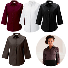 Russell Collection Ladies' 3/4 Sleeve Easy Care Fitted Shirt (946F)