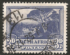 """South Africa Stamp - Scott #39a/A9 3p Ultra & Black """"Groote Schuur"""" Used/LH 1933"""