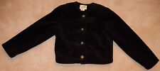 Duffel Outdoor Black Fleece Jacket Coat Size Small Button-Up Lined Cropped