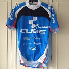 Cube Short Sleeve Cycling Jersey Top Blue Team Colours