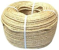 14mm NATURAL SISAL ROPE COILS, DECKING, GARDEN, CAT SCRATCHING POST, PARROT TOYS