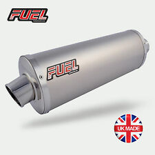 98-05 Suzuki GSX750F Classic Plain Titanium Oval Midi UK Road Legal Fuel Exhaust