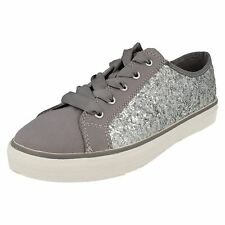 Girls Clarks Casual Glitter Canvas Shoes Brill Cora