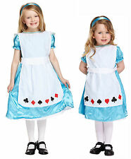 Alice in Wonderland Kids Dressing Up Costume Fancy Dress Girls Toddlers 3-12 Yrs