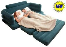 Pull Out Double Air Sofa Bed Inflatable Pullout Air Settee Couch Camping NEW