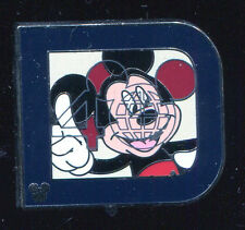 WDW 2011 Hidden Mickey Series Classic 'D' Collection Mickey Disney Pin 82380