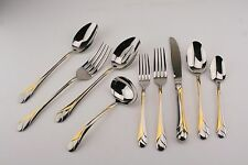 Mikasa Sweet Pea Gold Accent Gerald Patrick 18/8 Stainless Flatware Your Choice