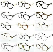 Clear Lens Glasses Fashion Wayfarer Cat Eye Round Frame Prescription Reading