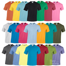 Gildan MEN'S T-SHIRT PLAIN HEAVY COTTON SUMMER TEE TOP COLOURS ALL SIZES OFFER
