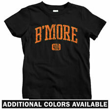 B'more 410 Baltimore Kids T-shirt - Baby Toddler Youth Tee - Wire Charm City MD