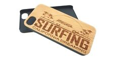 Wooden Phone Case Cover Shell Engraved CALIFORNIA SURFING iPhone Samsung