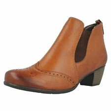 Ladies Remonte R9187-05 Leather Ankle Boots