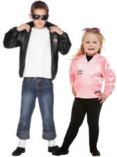 Boys Official Grease T-Birds Jacket Childs T Bird 50's Fancy Dress Costume Danny
