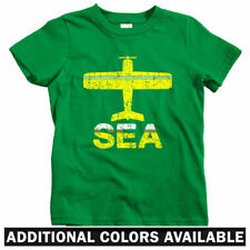 Fly Seattle SEA Airport Kids T-shirt - Baby Toddler Youth Tee - Washington Gift
