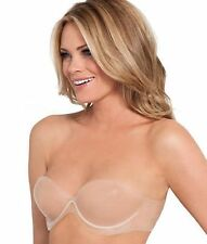 $40 Nordstrom Fashion Forms seamless push up silicone shapewear bra~ nude