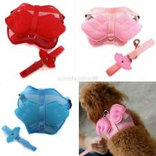 Small Pets Dog Cat Angel Wings Adjustable Rope Puppy Safety Harness Leash S/M/L