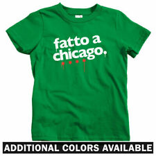Made In Chicago Italian Kids T-shirt - Baby Toddler Youth Tee - Gift Italy IL