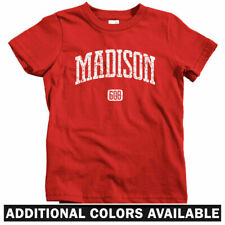 Madison 608 Wisconsin Kids T-shirt - Baby Toddler Youth Tee - Dane Badgers Gift