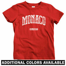 Monaco Kids T-shirt - Baby Toddler Youth Tee - Monte Carlo F1 Racing Monegasque