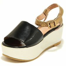 7116G sandalo donna zeppa JEFFREY CAMPBELL lovell colore nero bronzo argento ORO