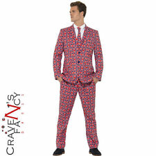 Union Jack Stand Out Suits Mens Stag Do Party Fancy Dress Costume Outfit New