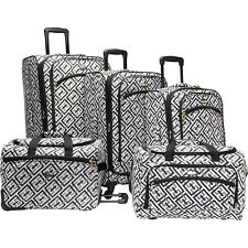 American Flyer Brick Wall Collection 5 Piece Spinner Luggage Set NEW