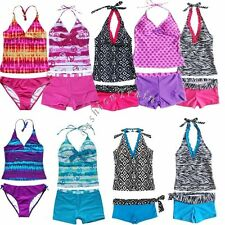 Kids Girls Two Piece Halter Tankini Set Swimwear Bikini Swimsuit Bathing  Suit