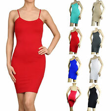 Sexy Scoop Spaghetti Strap Tunic DRESS Bodycon Low Back Knit Top Solid One Size