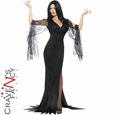 Immortal Soul Costume Ladies Vampire Witch Fancy Dress Morticia Halloween Outfit