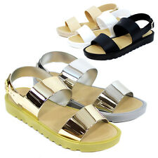 Women Casual Strappy Slingback Sandal with Heel Open Toe Gladiator Sandals Shoes