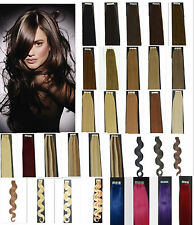 "Straight & Wavy 16""18""20""22 50G 20PCS Tape In Human Hair Extensions Remy A Or A+"