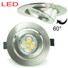 10X 5W 10W Ø102mm brushed chrome downlight ceiling light tilt dimmable GU10 110V