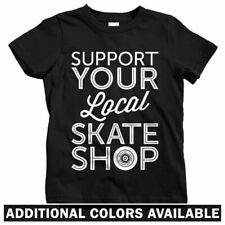 Support Your Local Skate Shop Kids T-shirt - Baby Toddler Youth Tee - Skater Ice