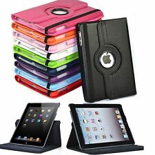 Hot 360 Rotate Folio Stand Smart Cover PU Leather Case For Apple iPad 2/3/4 9.7""