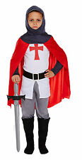 Childs Knight Dressing Up Outfit Medieval Soldier Crusader Fancy Dress Costume