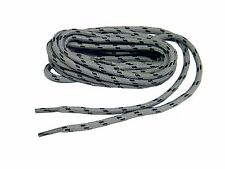 2 pair lot Heavy Duty GREY w/BLACK Kevlar reinforced boot laces shoelaces -NEW