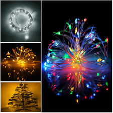 2M 4M 5M Micro LED Fairy String Flexible Lights Battery Powered Waterproof Party