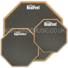 "Evans Real Feel Drum Practice Pads with choice 6"" 7"" and 12"" sizes and types"