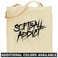 Softball Addict Tote Bag - Shopping Shoulder - Team Player Dad Mom Fastpitch