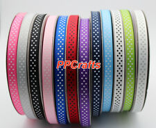 "3/8"" Polka Dots Grosgrain Ribbon 50yds/roll Great Color Selection for Crafts 9mm"