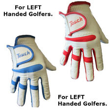 6 x Touch Cabretta Leather Mens Right Hand Golf Gloves For Left Handed Golfers