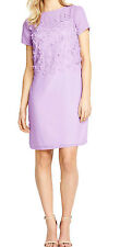 NEW DEFINITIONS 12,14,16,18 LILAC FLORAL SHORT SLEEVE CHIFFON TUNIC DRESS RRP£55