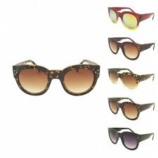 Designer Thick Large Round Women's Ladies Sunglasses Retro Vintage 60's 70's