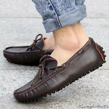 Fashion mens casual slip on loafer leather Moccasins breathable Driving shoes