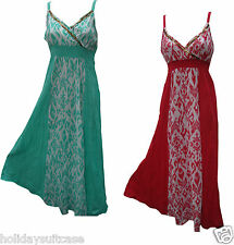 NEW LADIES WOMANS SUMMER COTTON CRINKLE MAXI DRESS BEACH HOLIDAY PLUS SIZE 16-22