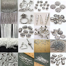Charm Silver Plated Chains/Hook/Pin/Jump Rings/Clasp Jewelry Making Tools Craft