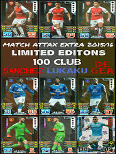 MATCH ATTAX EXTRA 2015/16 100 CLUB, LIMITED EDITIONS,  HAT TRICK HERO CARDS